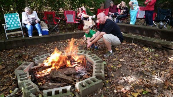 Corn Maze Campfire site